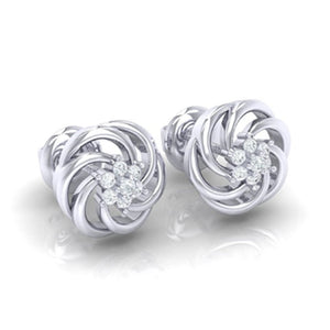 18Kt white gold real diamond earring 10(1) by diamtrendz
