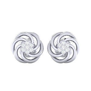 18Kt white gold real diamond earring 10(2) by diamtrendz