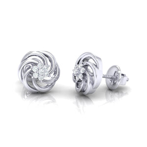 18Kt white gold real diamond earring 10(3) by diamtrendz
