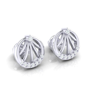 18Kt white gold real diamond earring 13(1) by diamtrendz