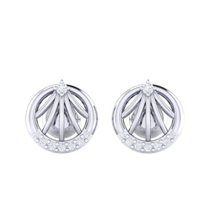 18Kt white gold real diamond earring 13(2) by diamtrendz