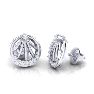 18Kt white gold real diamond earring 13(3) by diamtrendz