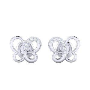 18Kt white gold real diamond earring 14(2) by diamtrendz