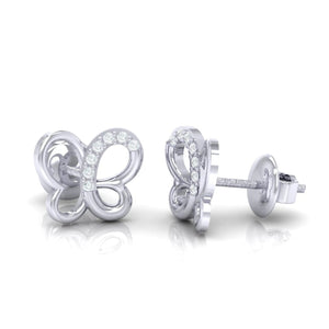 18Kt white gold real diamond earring 14(3) by diamtrendz