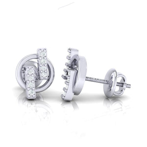 18Kt white gold real diamond earring 15(3) by diamtrendz