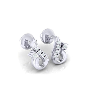 18Kt white gold real diamond earring 16(1) by diamtrendz