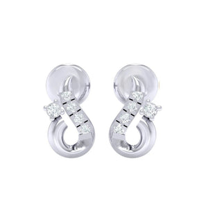 18Kt white gold real diamond earring 16(2) by diamtrendz