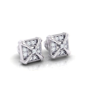 18Kt white gold real diamond earring 17(1) by diamtrendz