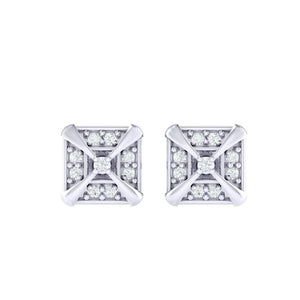 18Kt white gold real diamond earring 17(2) by diamtrendz