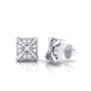 18Kt white gold real diamond earring 17(3) by diamtrendz
