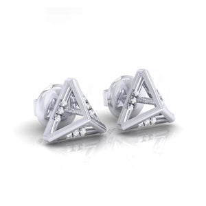 18Kt white gold real diamond earring 18(1) by diamtrendz