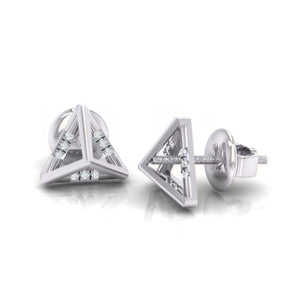 18Kt white gold real diamond earring 18(3) by diamtrendz