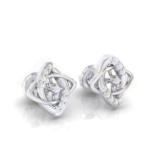 18Kt white gold real diamond earring 19(1) by diamtrendz