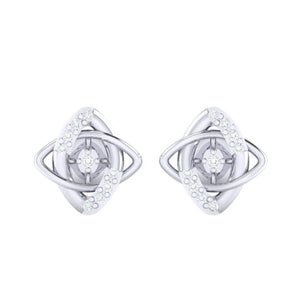 18Kt white gold real diamond earring 19(2) by diamtrendz
