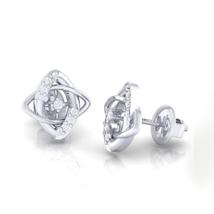 18Kt white gold real diamond earring 19(3) by diamtrendz