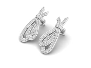 18Kt white gold real diamond earring 1(2) by diamtrendz