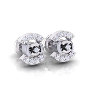 18Kt white gold real diamond earring 21(1) by diamtrendz