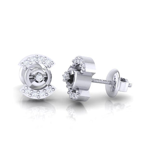 18Kt white gold real diamond earring 21(3) by diamtrendz