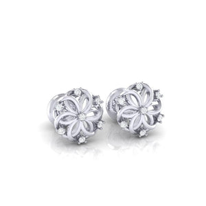 18Kt white gold real diamond earring 22(1) by diamtrendz