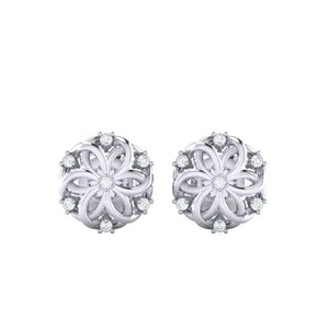 18Kt white gold real diamond earring 22(2) by diamtrendz