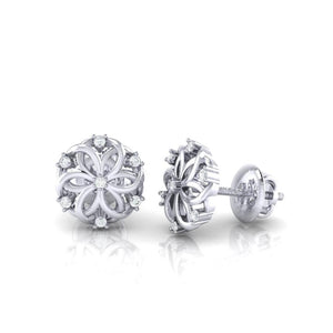 18Kt white gold real diamond earring 22(3) by diamtrendz