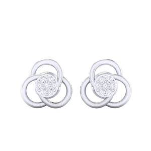 18Kt white gold real diamond earring 23(2) by diamtrendz