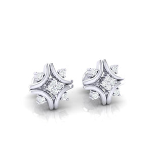 18Kt white gold real diamond earring 24(1) by diamtrendz