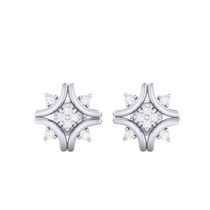 18Kt white gold real diamond earring 24(2) by diamtrendz