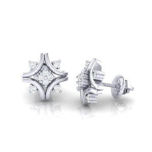 18Kt white gold real diamond earring 24(3) by diamtrendz