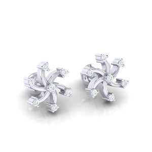 18Kt white gold real diamond earring 25(1) by diamtrendz