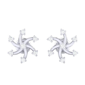 18Kt white gold real diamond earring 25(2) by diamtrendz
