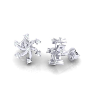 18Kt white gold real diamond earring 25(3) by diamtrendz