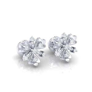 18Kt white gold real diamond earring 26(1) by diamtrendz