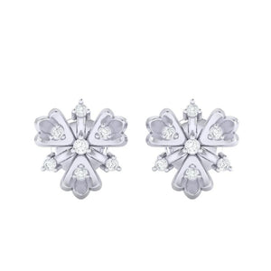 18Kt white gold real diamond earring 26(2) by diamtrendz