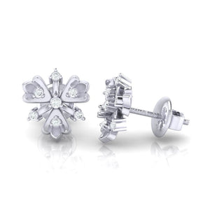 18Kt white gold real diamond earring 26(3) by diamtrendz