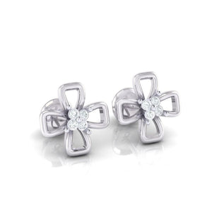 18Kt white gold real diamond earring 27(1) by diamtrendz