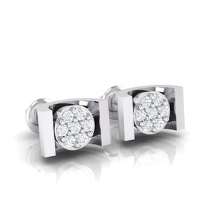 18Kt white gold real diamond earring 28(1) by diamtrendz