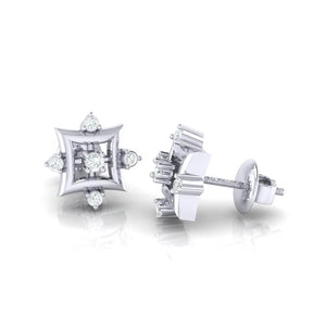 18Kt white gold real diamond earring 29(3) by diamtrendz