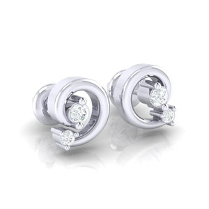 18Kt white gold real diamond earring 30(1) by diamtrendz