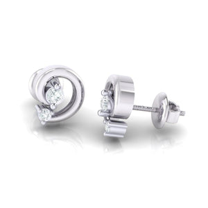 18Kt white gold real diamond earring 30(3) by diamtrendz