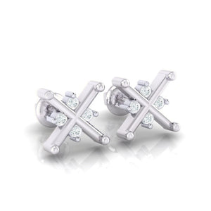 18Kt white gold real diamond earring 32(1) by diamtrendz