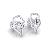 Load image into Gallery viewer, 18Kt white gold real diamond earring 34(1) by diamtrendz