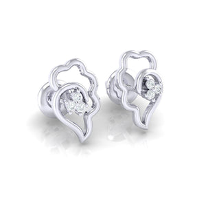 18Kt white gold real diamond earring 34(1) by diamtrendz