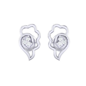 18Kt white gold real diamond earring 34(2) by diamtrendz