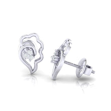 Load image into Gallery viewer, 18Kt white gold real diamond earring 34(3) by diamtrendz