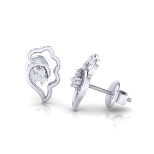 18Kt white gold real diamond earring 34(3) by diamtrendz