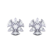 Load image into Gallery viewer, 18Kt white gold real diamond earring 36(2) by diamtrendz