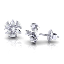 Load image into Gallery viewer, 18Kt white gold real diamond earring 36(3) by diamtrendz