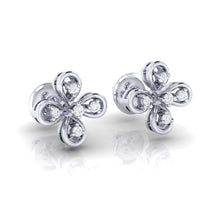 Load image into Gallery viewer, 18Kt white gold real diamond earring 37(1) by diamtrendz