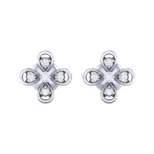 Load image into Gallery viewer, 18Kt white gold real diamond earring 37(2) by diamtrendz